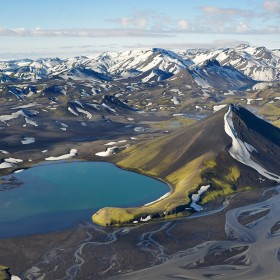 iceland aerial lake by andre ermolaev aerial
