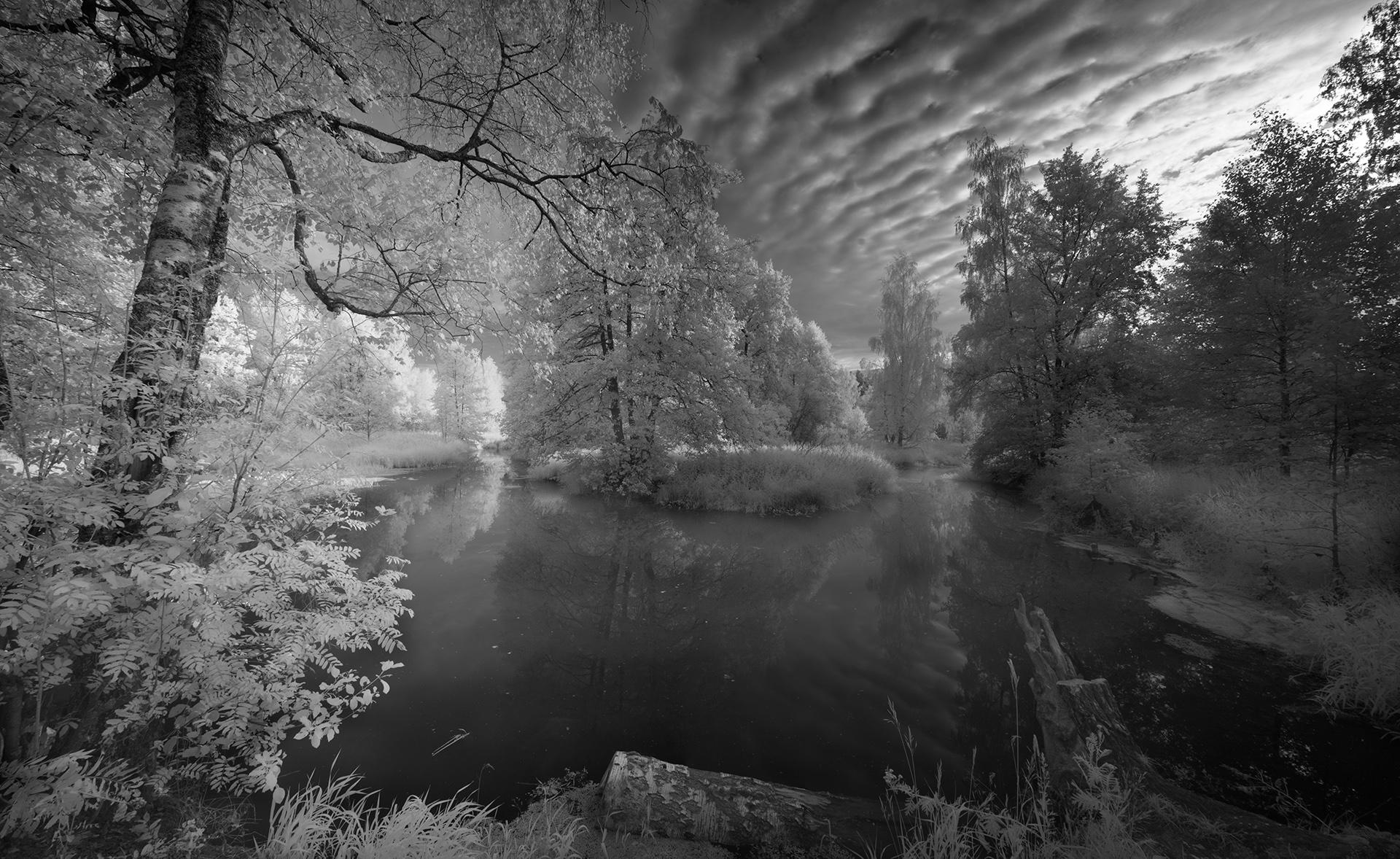 The small river.